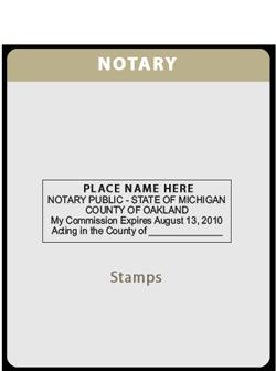 MI-Notary Rectangle